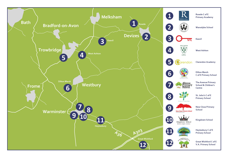 Acorn Schools Map